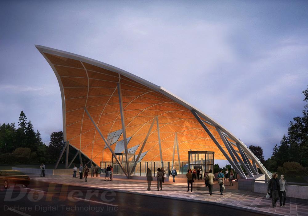 Infrastructure rendering - OLRT Lebraton Station